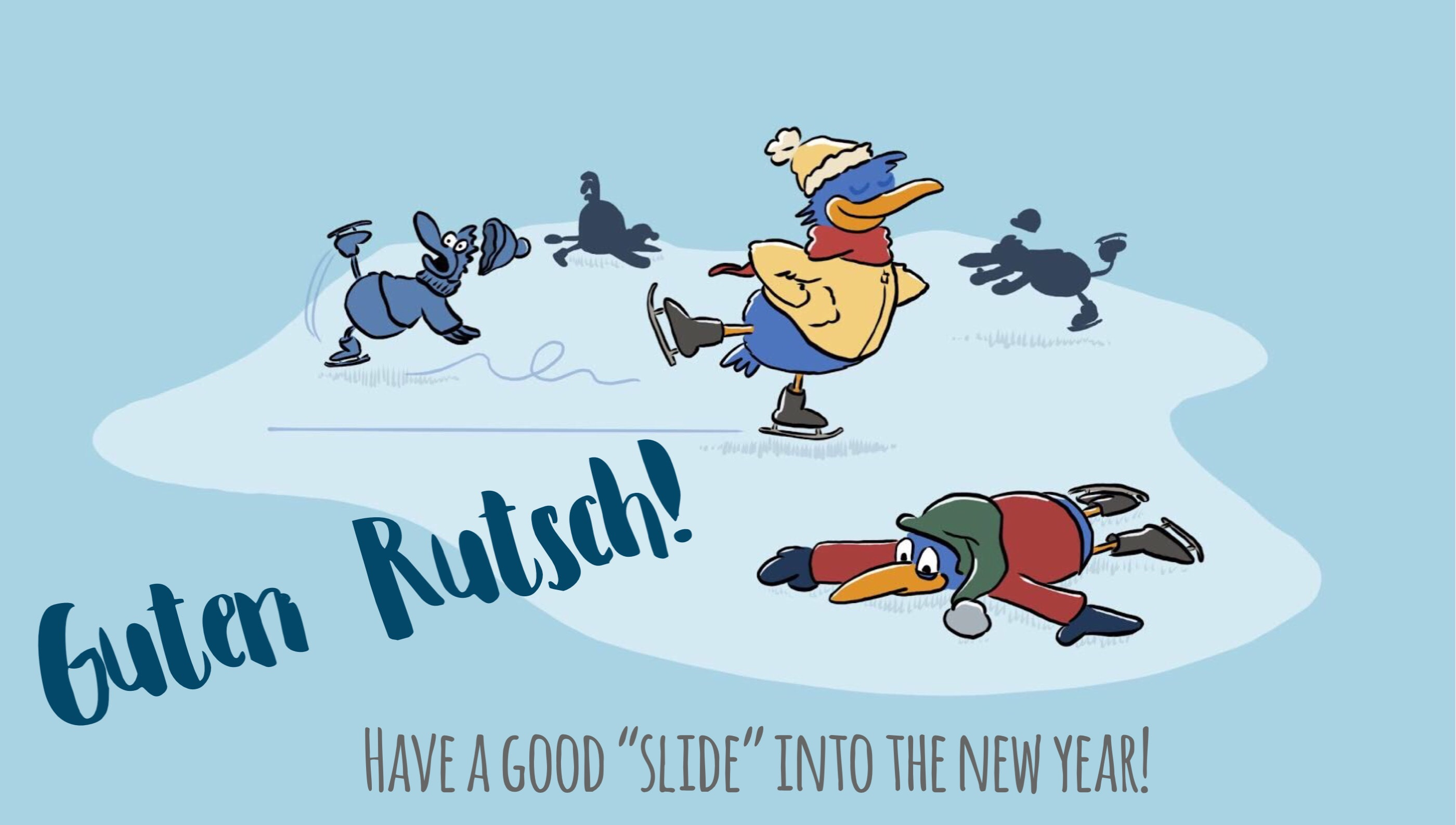 German new year greeting Guter Rutsch