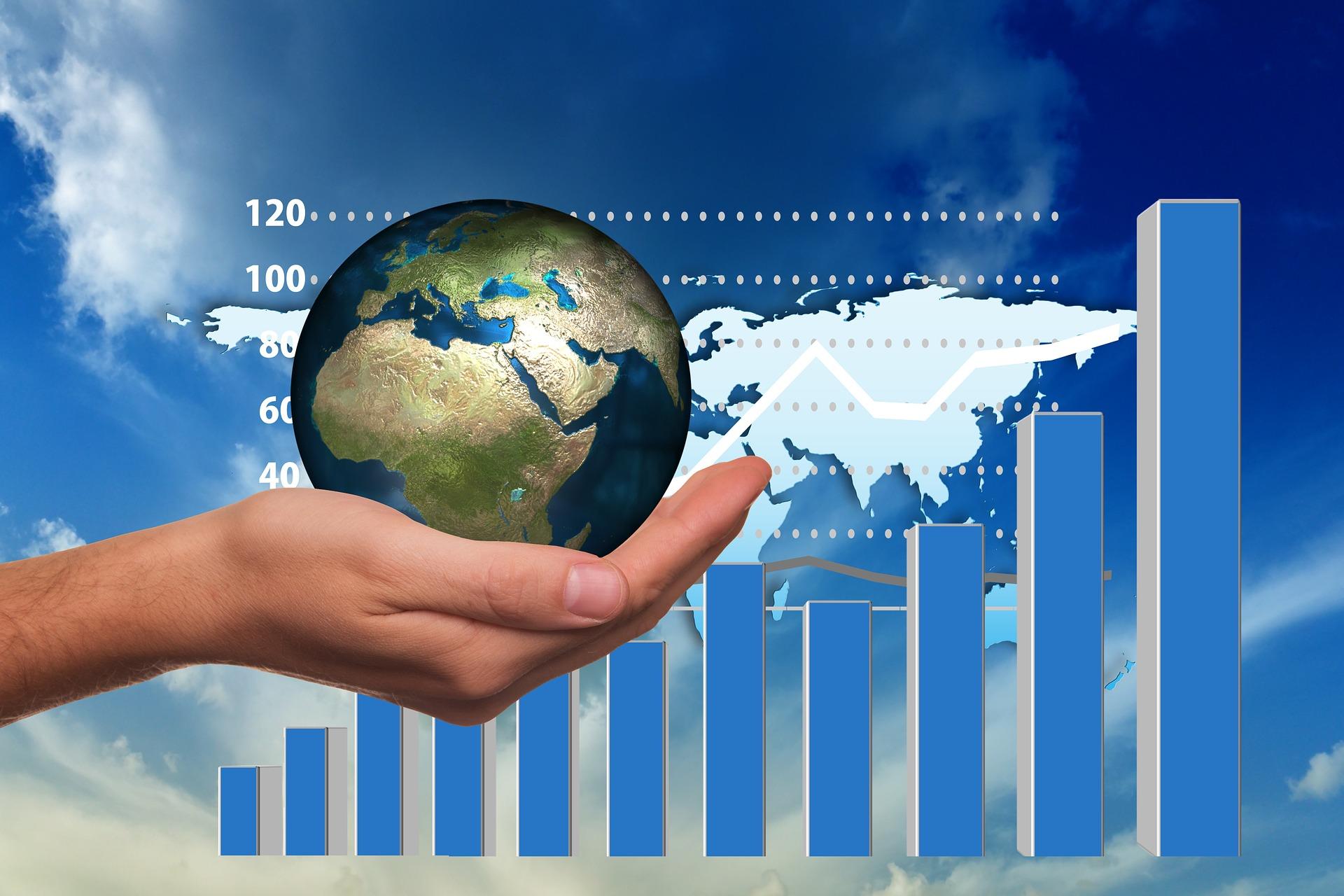Illustration showing global trend